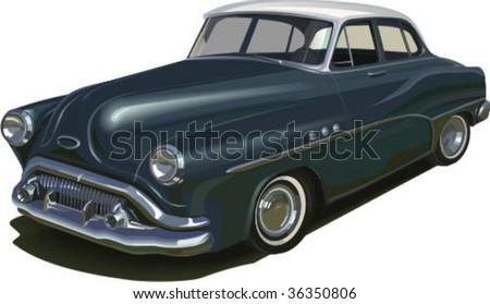 vector retro car 50 years ...
