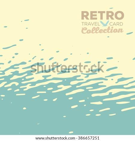 vector retro card minimalistic