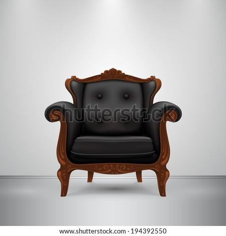 vector retro chair