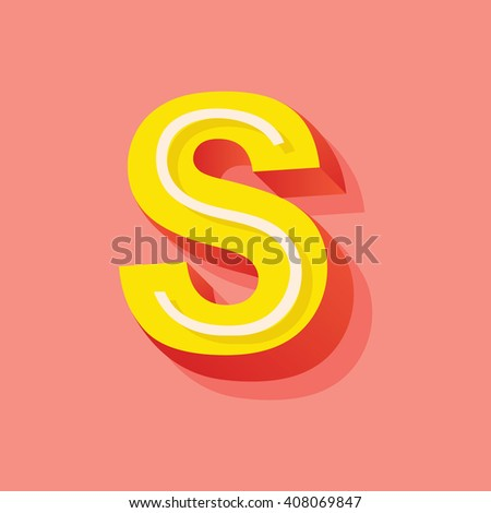Vector Retro 3D Font with shadow. Vintage Alphabet on pink background