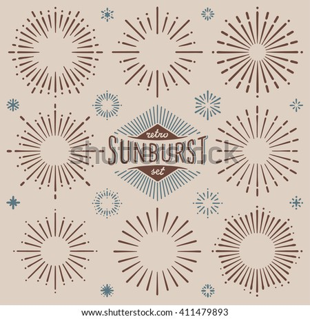 vector retro dark sunburst