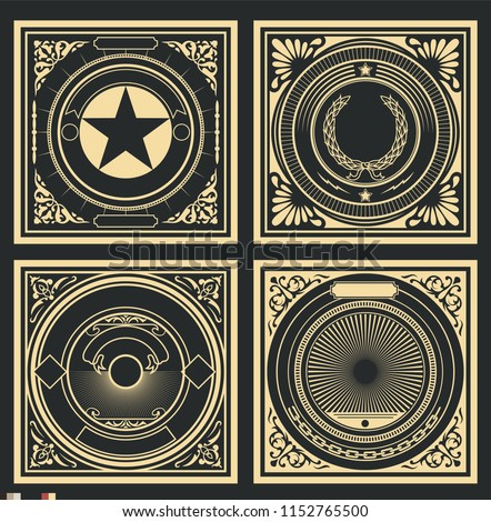 vector retro decorative covers