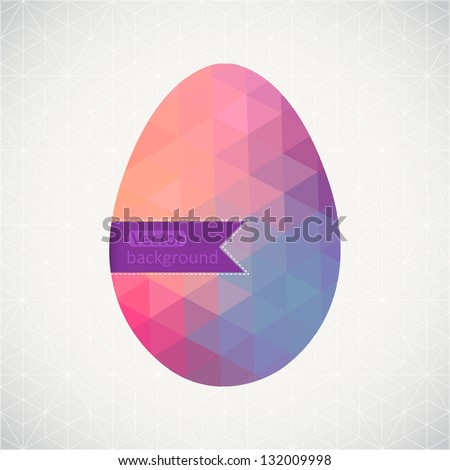 vector retro egg made of color