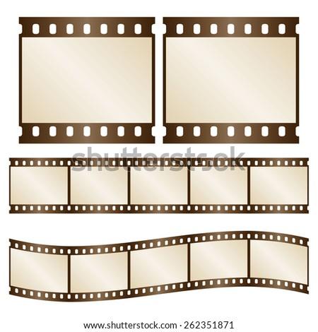 vector retro film strips