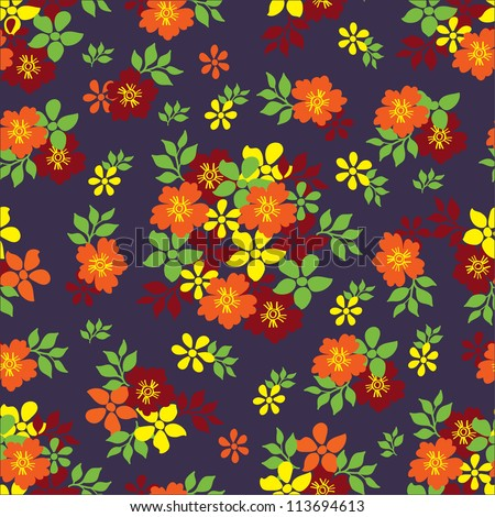 Vector Retro Floral(seamless pattern)