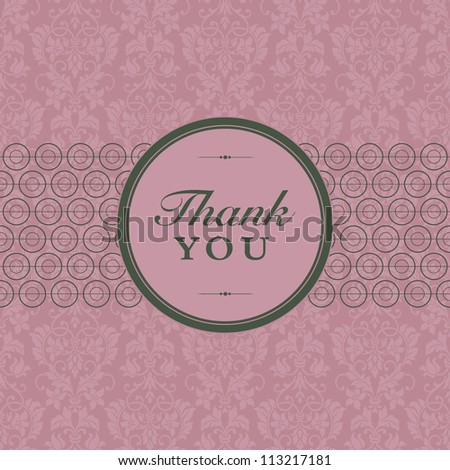 Vector Retro Flower Pattern and Frame. Easy to edit. Perfect for invitations or announcements.