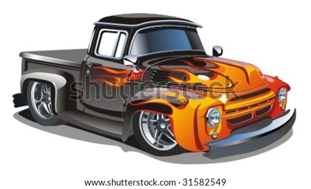 Vector retro hotrod