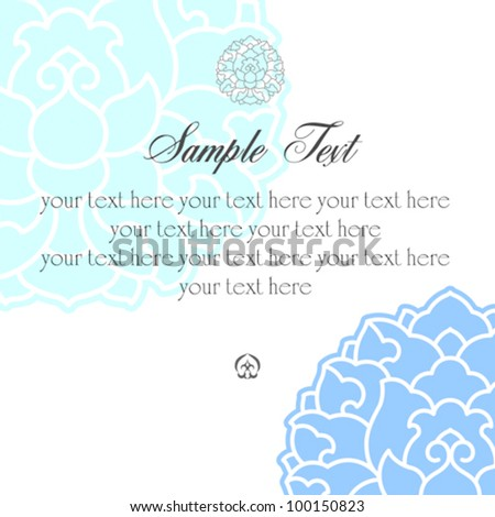 Vector retro invitation card on floral background with place for your text