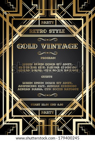 Gatsby invitation vector image collections invitation sample and gatsby invitation vector images invitation sample and invitation gatsby invitation vector images invitation sample and invitation stopboris Image collections