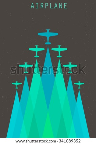 vector retro poster with