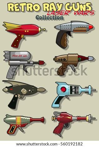 vector retro ray guns set
