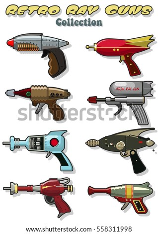 vector retro ray guns set laser