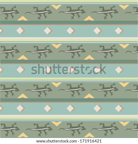 vector retro seamless patterns with animals reptiles