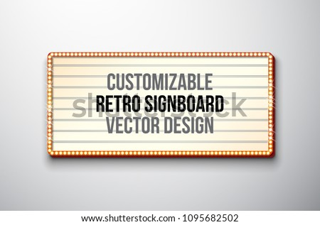 vector retro signboard or
