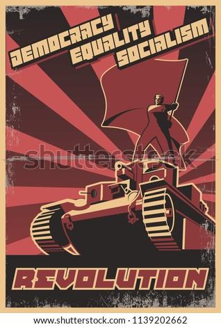 vector retro soviet revolution