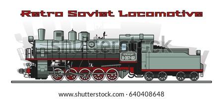 vector retro soviet steam
