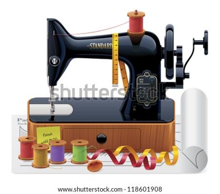 Vector retro tailoring icon