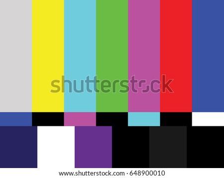 vector retro television test