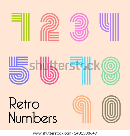 Vector Retro, useful for retro packaging design, posters, greeting cards, brochures, flyers and much more. - Vector
