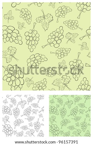 Vector retro vine background collection of different colors