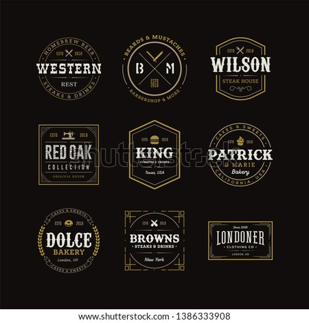 Vector Retro Vintage Emblem or Logotype Design Elements Business Sign Hipster Logo Identity Template