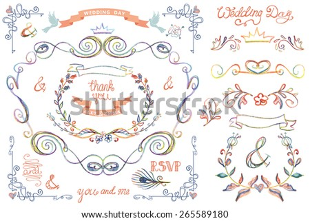 abstract watercolor wedding invitation card set download free