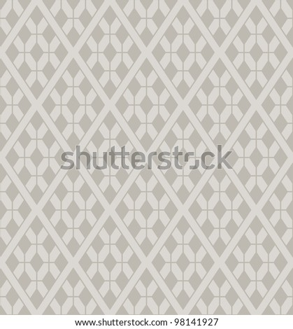 Vector rhombuses lattice seamless pattern