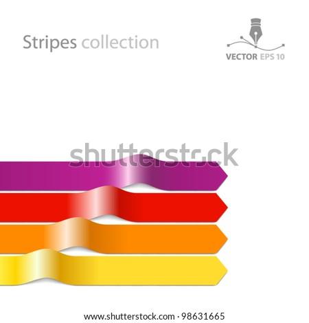Vector ribbon background