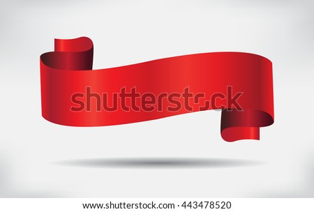 Vector ribbon banner.Red ribbon.
