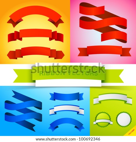 Vector Ribbon Banners. A colourful collection of ribbon banners.