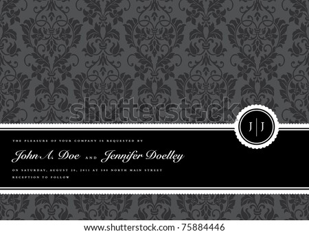Vector Ribbon Frame and Background Easy to edit Perfect for invitations or announcements