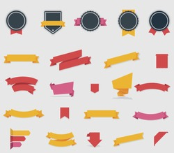 Vector ribbons and labels