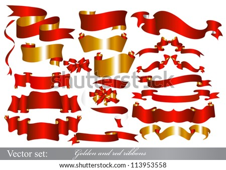 Vector Ribbons set for design