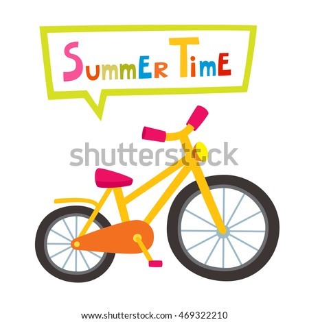 vector riding yellow bike