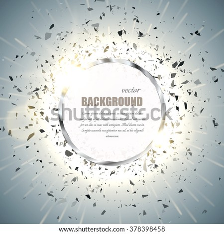 vector ring background metal