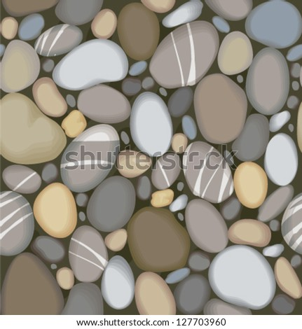 vector river pebbles seamless