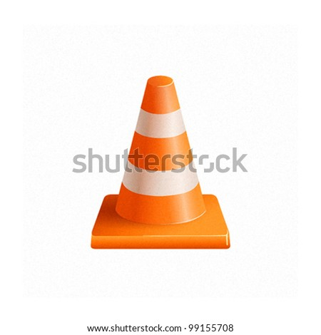 Vector Road Cone Icon
