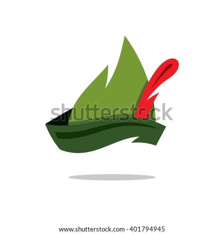 vector robin hood hat cartoon