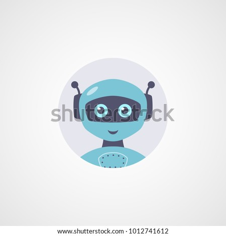 vector robot flat icon cute