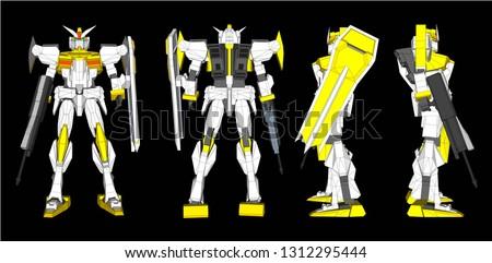 vector robot gundam 3d