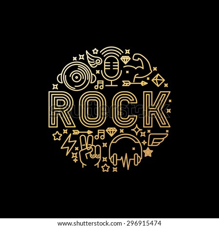vector rock music concept in
