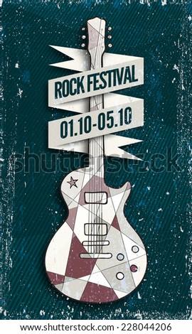 vector rock music festival