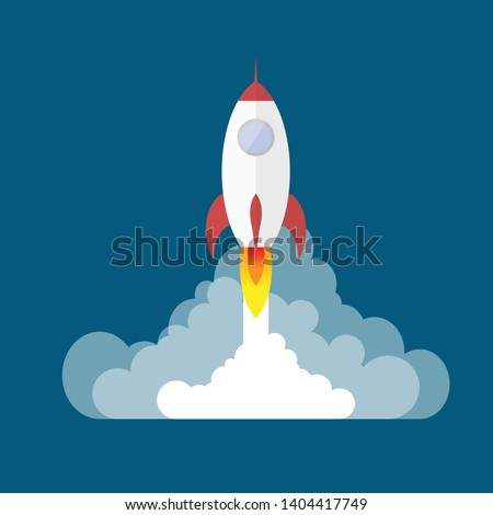 Vector Rocket Image, Spaceship, rocket lunch