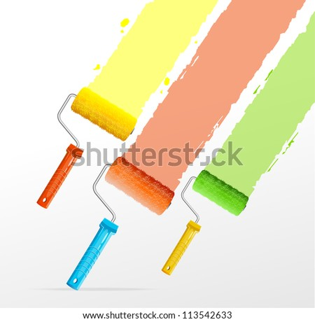 Vector roller brushes