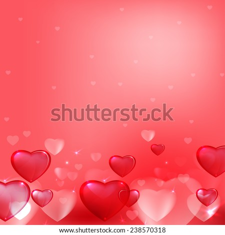 Vector romantic background with beautiful lights and hearts #238570318