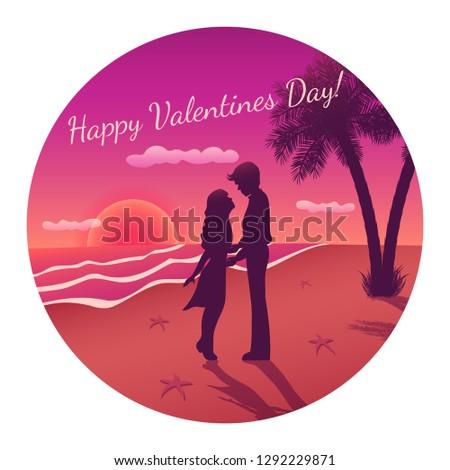 vector romantic circle