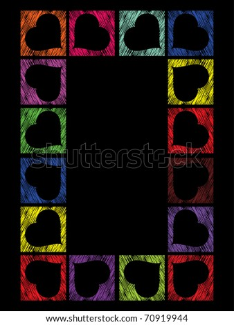 vector romantic colorful heart shape o for valentine day Foto stock ©