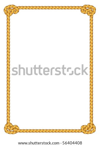 Vector Rope Border
