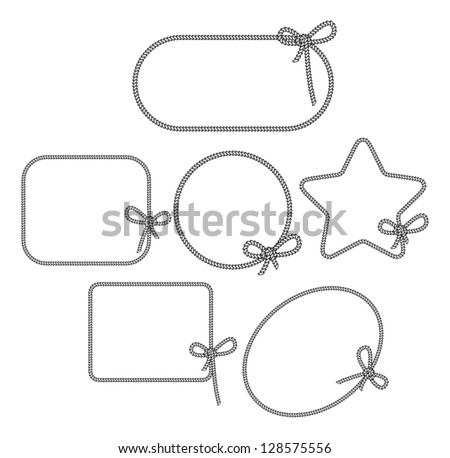 Rope Logo Vector Vector Rope Frames With Bow