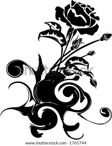 Tribal Black And White Flower